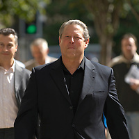 Former American Vice President Al Gore in Edinburgh as guest speaker at the Media Guardian Edinburgh International Television Festival and the International Book Festival, August 2006<br />