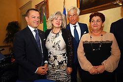 DA SX SIMONA CASELLI PAOLO BRUNI TERESA BELLANOVA<br /> MINISTRO TERESA BELLANOVA IN PREFETTURA A FERRARA