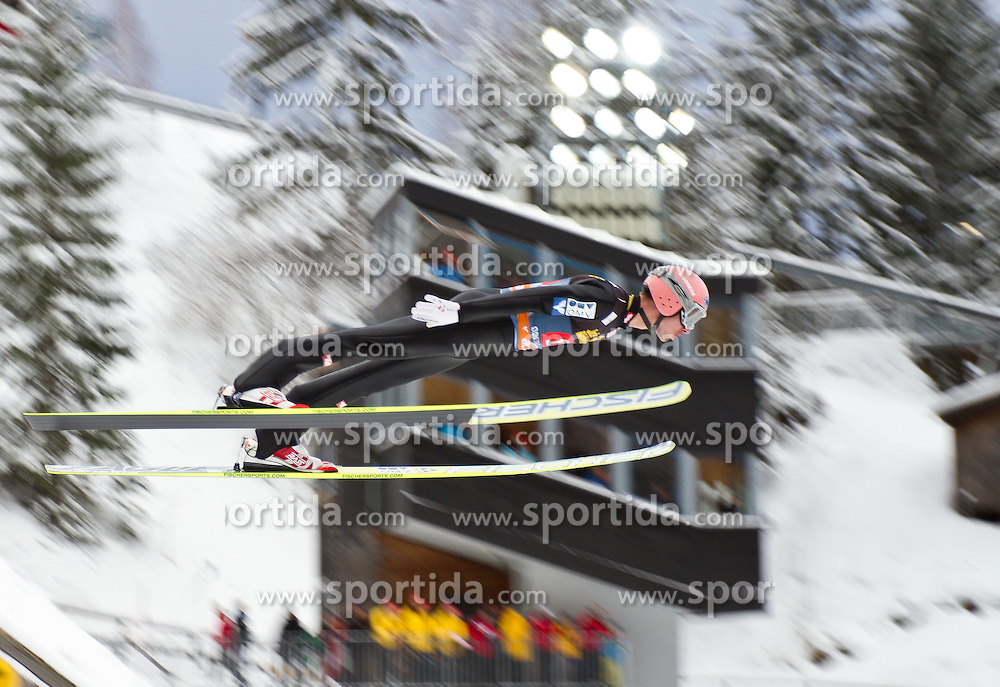 30.12.2011, Schattenbergschanze / Erdinger Arena, GER, Vierschanzentournee, FIS Weldcup, Probedurchgang, Ski Springen, im Bild Manuel Fettner (AUT) // Manuel Fettner of Austria  during the trial round at 60th Four-Hills-Tournament, FIS World Cup in Oberstdorf, Germany on 2011/12/30. EXPA Pictures © 2011, PhotoCredit: EXPA/ P.Rinderer