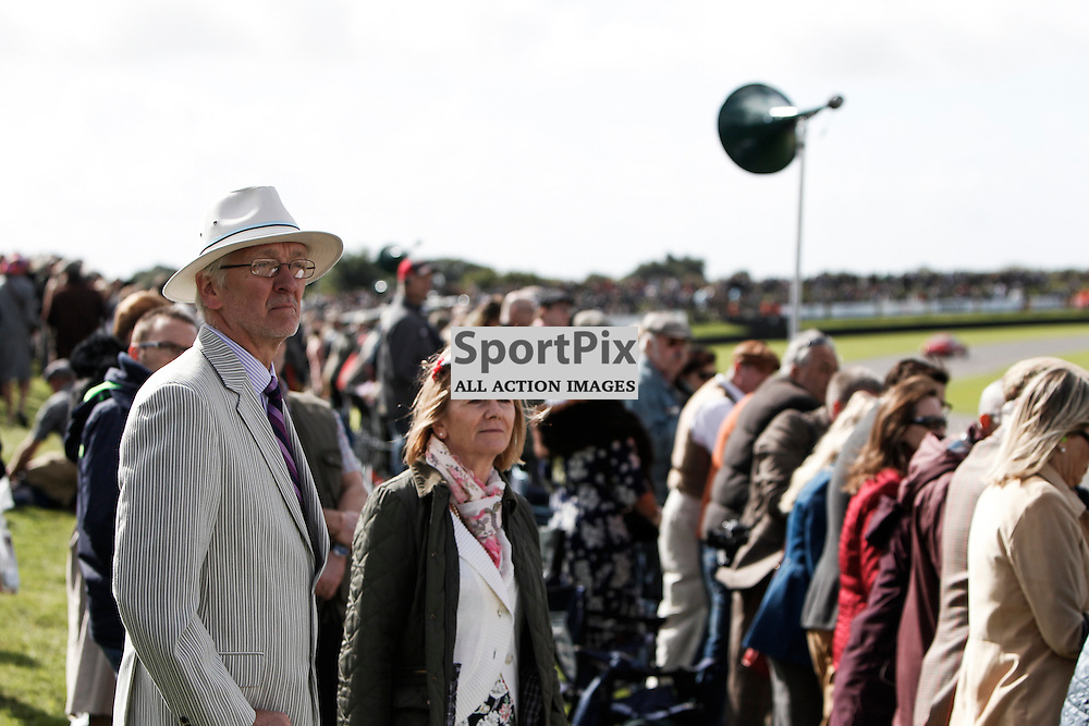 Car Enthusiasts enjoy the view at the Goodwood Revival 2015, Goodwood Revival 12th September, Day 2. Chichester, West Sussex. (c) SAM TODD | SportPix.org.uk