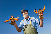 "Lobster fisherman Norm Peters, ""The Bearded Skipper"" of Rustico, Prince Edward Island, Canada.."