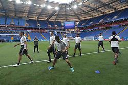 June 22, 2018 - EUM20180622DEP05.JPG.ROSTOV, Rusia, SoccerFutbol-Mundial.- 22 de junio de 2018. Sesión de entrenamiento de la Selección Mexicana de futbol en el Estadio Rostov Arena, previo al partido que tendrán ante su similar de Corea del Sur este sábado, como parte de las actividades de fase de grupos del Mundial de Rusia. Foto: Agencia EL UNIVERSALLuis CortésMAR. (Credit Image: © El Universal via ZUMA Wire)