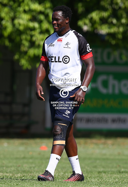 Lubabalo Tera Mtembu during The Cell C Sharks Pre Season training, session at Growthpoint Kings Park in Durban, South Africa. 16 February 2017(Photo by Steve Haag)<br /> <br /> images for social media must have consent from Steve Haag
