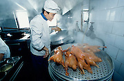 Preparing ducks à la minute for the 150 passengers of the Victoria 3 is no easy task, even for experienced chefs.