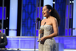 """Jan 8, 2017 - Beverly Hills, California, U.S - TRACEE ELLIS ROSS accepts the Golden Globe Award for BEST PERFORMANCE BY AN ACTRESS IN A TELEVISION SERIES – COMEDY OR MUSICAL for her role in """"Black-ish"""" at the 74th Annual Golden Globe Awards at the Beverly Hilton in Beverly Hills, CA on Sunday, January 8, 2017. (Credit Image: ? HFPA/ZUMAPRESS.com)"""