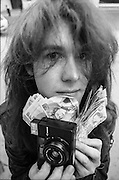 Tony Mottram, Sounds Photographer with Cash, High Wycombe, UK, 1980s.