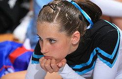 Girl of group Twist, Slovenia during final ceremony at second day of European Cheerleading Championship 2008, on July 6, 2008, in Arena Tivoli, Ljubljana, Slovenia. (Photo by Vid Ponikvar / Sportal Images).