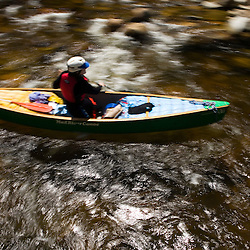 Canoeing the Ashuelot River in Surry New Hampshire USA