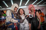 Fanaticos del cosplay en la Convencion Avalancha de Venezuela que reune a otakus, cosplayers, fanaticos de la ciencia ficcion, comics, anime, mangas y juegos. Caracas, del 9 al 18 de agosto de 2013. (Foto / ivan Gonzalez)