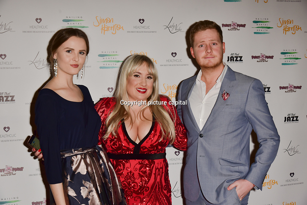Stephanie Staunton and guests Arrivers at the Nailing Mental Health: Valentine's Ball The Hurlingham Club, Ranelagh Gardens on 14 Feb 2018, London, United Kingdom