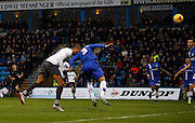 Bury FC Striker & Top Scorer Leon Clarke adds to his season total to make it 11 goals for this year during the Sky Bet League 1 match between Gillingham and Bury at the MEMS Priestfield Stadium, Gillingham, England on 14 November 2015. Photo by Andy Walter.