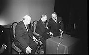 Opening of the new Abbey Theatre, designed by Michael Scott. Earnan de Blaghd, President de Valera and Dr. Seamus Wilmot..18.07.1966