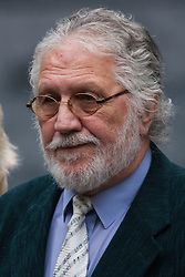 London, September 17th 2014. Ex television presenter and DJ David Lee Travis arrives at Southwark Crown Court in London as his retrial on two counts of indecent assault continues. PAYMENT/CONTACT DETAILS: paul@pauldaveycreative.co.uk Te' +44 (0) 7966 016 296 or +44 (0) 208 969 6875