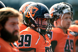 Netherlands players prepare for the game against Russia in the the European Championship at Sixways Stadium - Photo mandatory by-line: Dougie Allward/JMP - 18/09/2016 - American Football - Sixways Stadium - Worcester, England - Netherlands v Russia - IFAF European Championship