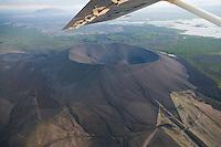 Hverfjall Crater near Lake Myvatn, northern Iceland - aerial