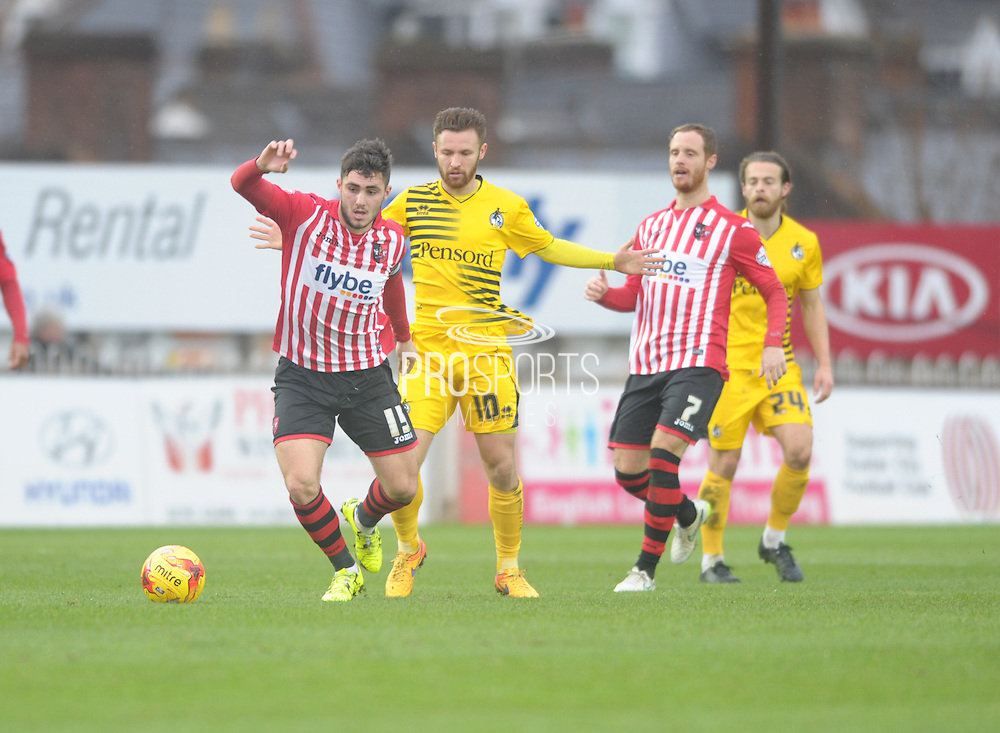 Arron Davies during the Sky Bet League 2 match between Exeter City and Bristol Rovers at St James' Park, Exeter, England on 28 November 2015. Photo by Graham Hunt.