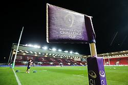 EPCR Challenge Cup corner flag - Rogan Thomson/JMP - 14/10/2016 - RUGBY UNION - Ashton Gate Stadium - Bristol, England - Bristol Rugby v Saracens - EPCR Challenge Cup.