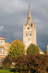 St. John's Church as viewed from Rose Square (Roza laukums), Cesis, Latvia