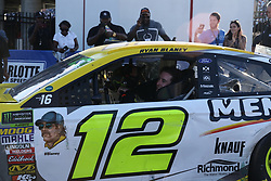 September 30, 2018 - Charlotte, NC, U.S. - CHARLOTTE, NC - SEPTEMBER 30:  #12: Ryan Blaney, Team Penske, Ford Fusion Menards/Pennzoil after winning the Monster Energy NASCAR Cup Series Playoff Race Bank of America ROVAL 400 on September 30, 2018, at Charlotte Motor Speedway in Concord, NC. (Photo by Jaylynn Nash/Icon Sportswire) (Credit Image: © Jaylynn Nash/Icon SMI via ZUMA Press)