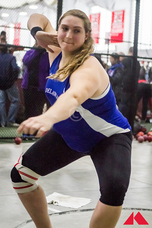 ECAC Indoor Champs, womens shot put, Sarah Hillman, Deleware