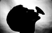 Lotus pod in mouth, silhouette - One Woman Show