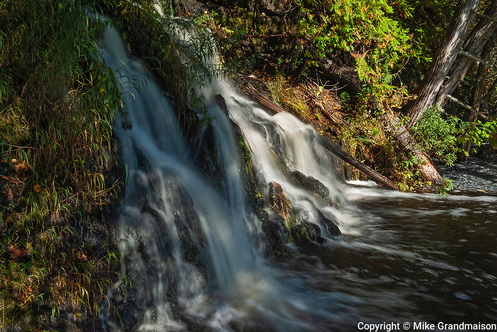 Waterfall on Crow Lake at sunset<br />Crow Lake<br />Ontario<br />Canada