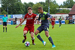 NUNEATON, ENGLAND - Sunday, July 30, 2017: Liverpool's captain Matthew Virtue and PSV Eindhoven's Justin Lonwijk during a pre-season friendly between Liverpool and PSV Eindhoven at the Liberty Way Stadium. (Pic by Paul Greenwood/Propaganda)