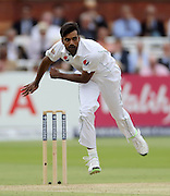 Rahat Ali bowls during the first Investec Test Match between England and Pakistan at Lord's Cricket Ground, London. Photo: Graham Morris/www.cricketpix.com (Tel:+44(0)20 8969 4192; Email: graham@cricketpix.com) 15/07/2016