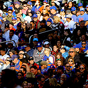 NEW YORK, NEW YORK - APRIL 30:  The New York Mets crowd watching the game in the late afternoon sunlight during the New York Mets Vs San Francisco Giants MLB regular season game at Citi Field on April 30, 2016 in New York City. (Photo by Tim Clayton/Corbis via Getty Images)