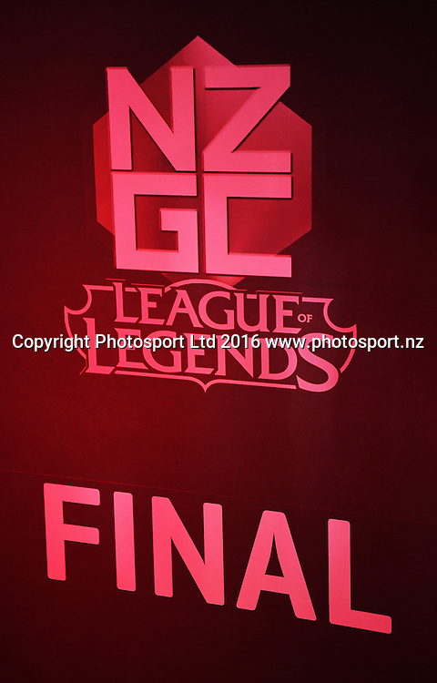 League of Legends. E-sports NZ Gaming Championship Grand Final. Auckland, New Zealand. Letsplay.live. Wednesday 12 October 2016© Copyright photo: Andrew Cornaga / www.photosport.nz