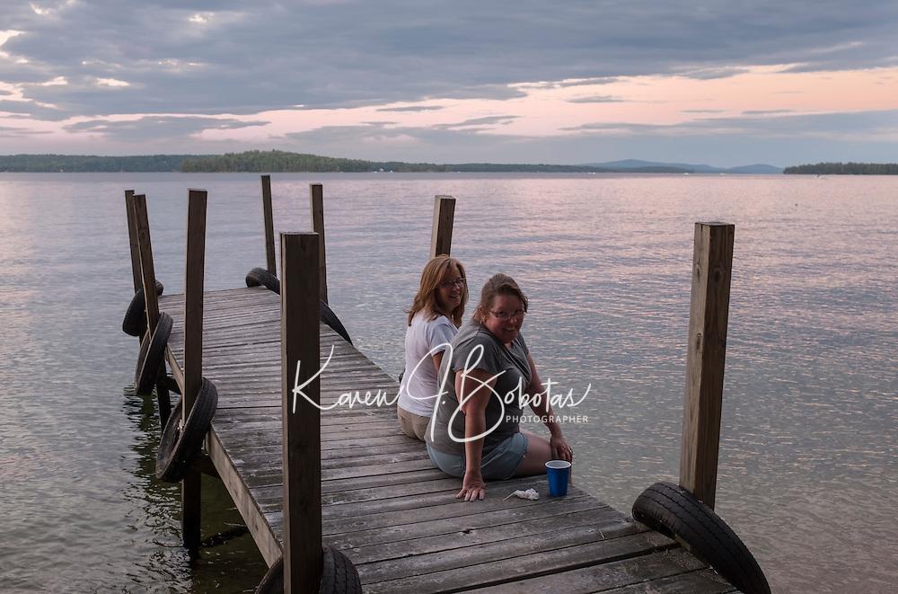 Dinner barbecue on Bear Island.  ©2016 Karen Bobotas Photographer