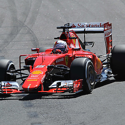 Sebastian Vettel of Scuderia Ferrari.<br /> Round 1 - Second day of the 2015 Formula 1 Rolex Australian Grand Prix at The circuit of Albert Park, Melbourne, Victoria on the 13th March 2015.<br /> Wayne Neal | SportPix.org.uk