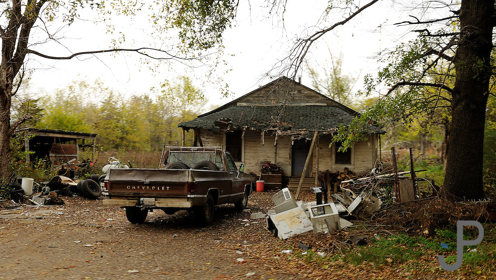 Many homes are in a state of disrepair in rural southeast Oklahoma.