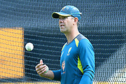 Australian cricket coach Ricky Ponting during the warm up ahead of the ICC Cricket World Cup 2019 semi final match between Australia and England at Edgbaston, Birmingham, United Kingdom on 11 July 2019.