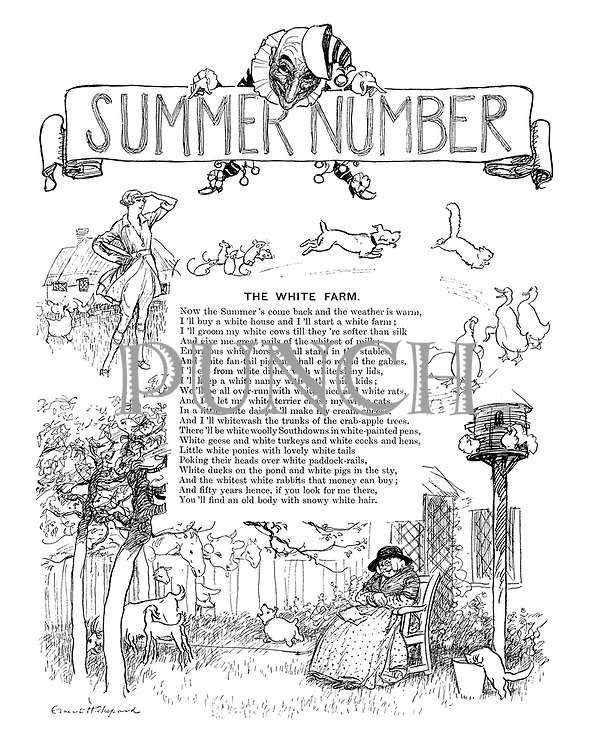 The White Farm (illustrated poem, frontispiece to Punch Summer Number, 1926)