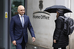 © Licensed to London News Pictures. 30/04/2018. London, UK. New Home Sectetary Sajid Javid poses for photographs at the Home Office the day after the resignation of Amber Rudd. Photo credit: Peter Macdiarmid/LNP