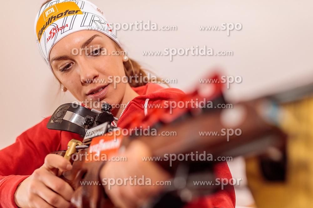 14.02.2017, Biathlonarena, Hochfilzen, AUT, IBU Weltmeisterschaften Biathlon, Hochfilzen 2017, Training, im Bild Fabienne Hartweger (AUT) // Fabienne Hartweger (AUT) before Training for the IBU Biathlon World Championships at the Biathlonarena in Hochfilzen, Austria on 2017/02/14. EXPA Pictures © 2017, PhotoCredit: EXPA/ JFK