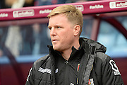 Bournemouth Manager Eddie Howe during the Barclays Premier League match between Aston Villa and Bournemouth at Villa Park, Birmingham, England on 9 April 2016. Photo by Jon Hobley.