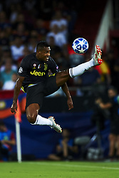September 19, 2018 - Valencia, Spain - Alex Sandro controls the ball during the Group H match of the UEFA Champions League between Valencia CF and Juventus at Mestalla Stadium on September 19, 2018 in Valencia, Spain. (Credit Image: © Jose Breton/NurPhoto/ZUMA Press)