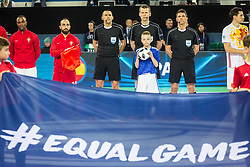 Bally boy during futsal match between Spain and Portugal in Final match of UEFA Futsal EURO 2018, on February 10, 2018 in Arena Stozice, Ljubljana, Slovenia. Photo by Ziga Zupan / Sportida