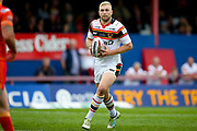 Bradford Bulls loose forward Damian Sironen (10) in action  during the Kingstone Press Championship match between Sheffield Eagles and Bradford Bulls at, The Beaumont Legal Stadium, Wakefield, United Kingdom on 3 September 2017. Photo by Simon Davies.