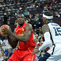 12 August 2012: Spain Serge Ibaka is seen during 107-100 Team USA victory over Team Spain, during the men's Gold Medal Game, at the North Greenwich Arena, in London, Great Britain.