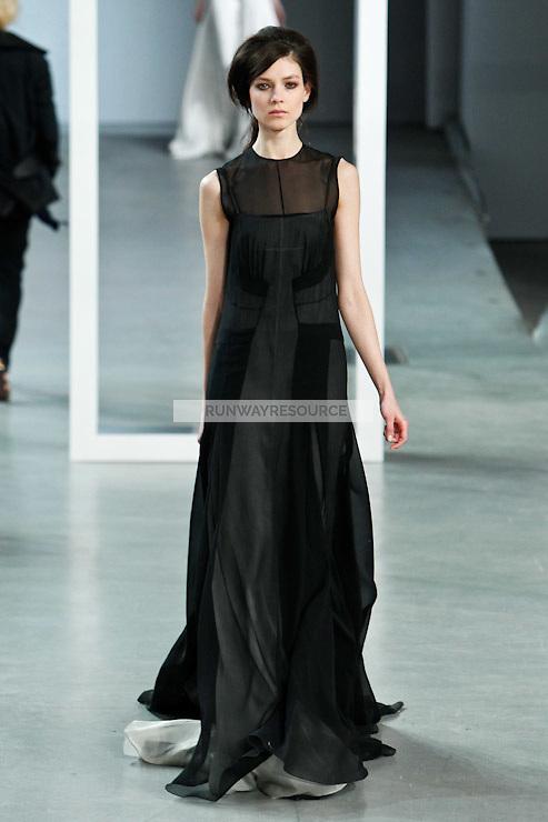 Kati Nescher walks down runway for F2012 Derek Lam's collection in Mercedes Benz fashion week in New York on Feb 10, 2012 NYC