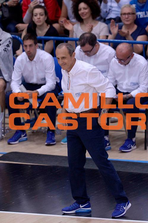DESCRIZIONE: Trento Trentino Basket Cup - Italia Repubblica Ceca<br /> GIOCATORE: Ettore Messina<br /> CATEGORIA: Nazionale Maschile Senior<br /> GARA: Trento Trentino Basket Cup - Italia Repubblica Ceca<br /> DATA: 17/06/2016<br /> AUTORE: Agenzia Ciamillo-Castoria