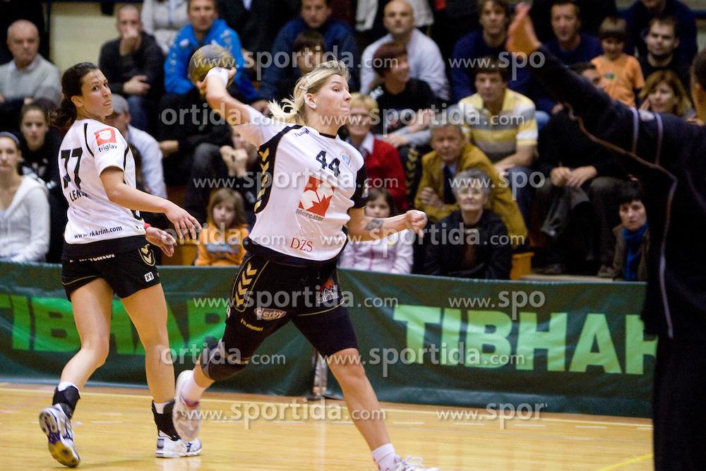 Maja Zrnec of Krim at last 10th Round handball match of Slovenian Women National Championships between RK Krim Mercator and RK Olimpija, on May 15, 2010, in Galjevica, Ljubljana, Slovenia. Olimpija defeated Krim 39-36, but Krim became Slovenian National Champion. (Photo by Vid Ponikvar / Sportida)
