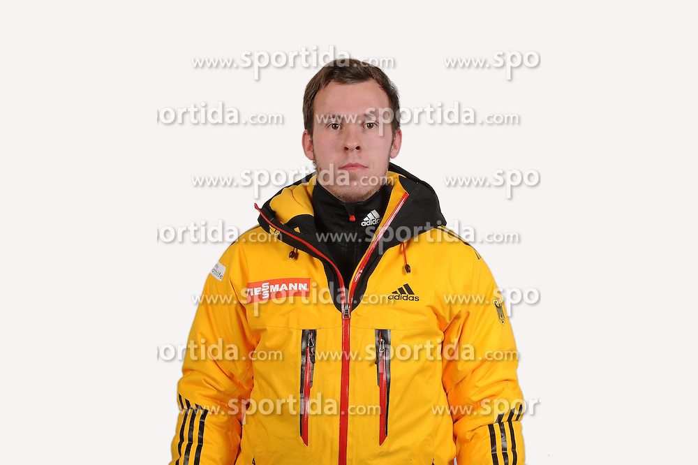 03.01.2014, Kunsteisbahn, Koenigssee, GER, BSD, Rennrodler Team Deutschland, Portrait, im Bild Chris Rohmeiss (RC im TSV Zella-Mehlis) // during Luge athletes of team Germany, Portrait Shooting at the Kunsteisbahn in Koenigssee, Germany on 2014/01/04. EXPA Pictures &copy; 2014, PhotoCredit: EXPA/ Eibner-Pressefoto/ Stuetzle<br /> <br /> *****ATTENTION - OUT of GER*****