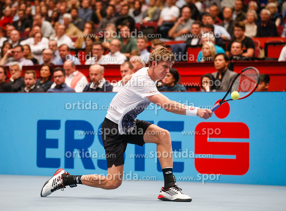 28.10.2018, Wiener Stadthalle, Wien, AUT, ATP Tour, Erste Bank Open, Finale, im Bild Kevin Anderson (RSA) // Kevin Anderson of South Africa during the Final Match of the Erste Bank Open of ATP Tour at the Wiener Stadthalle in Wien, Austria on 2018/10/28. EXPA Pictures © 2018, PhotoCredit: EXPA/ Christian Hofer