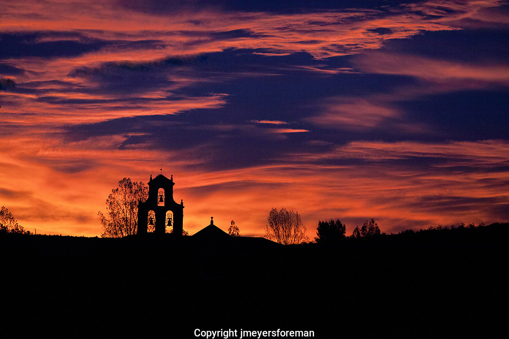Sunrise, San Juan de Ortega, Spain. Sunrises can often be dramatic,  take a minute to  witness the day begin.