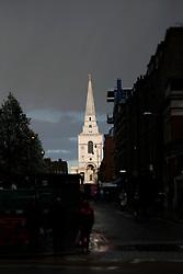 UK ENGLAND LONDON 22MAR14 - Christ Church Spitalfields in Whitechapel, London's east end.<br /> <br /> jre/Photo by Jiri Rezac<br /> <br /> © Jiri Rezac 2014
