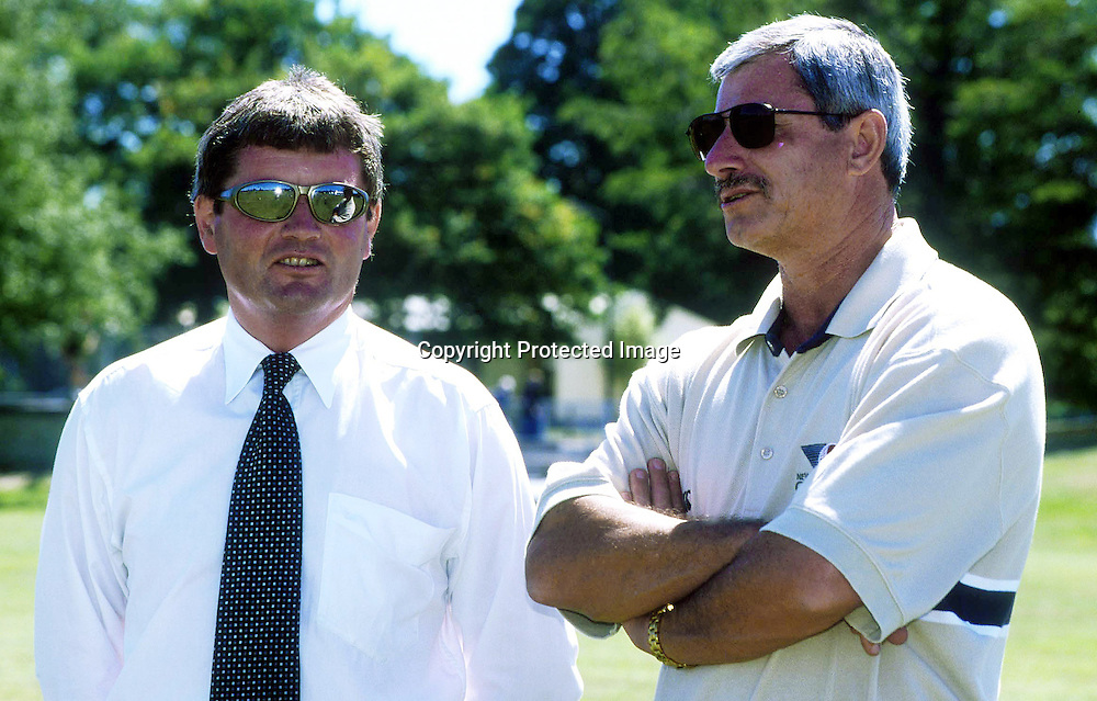Brian McKechnie and Richard Hadlee  - New Zealand Cricket Black Caps Selectors 2000/2001. Photo: Sandra Teddy/Photosport.co.nz
